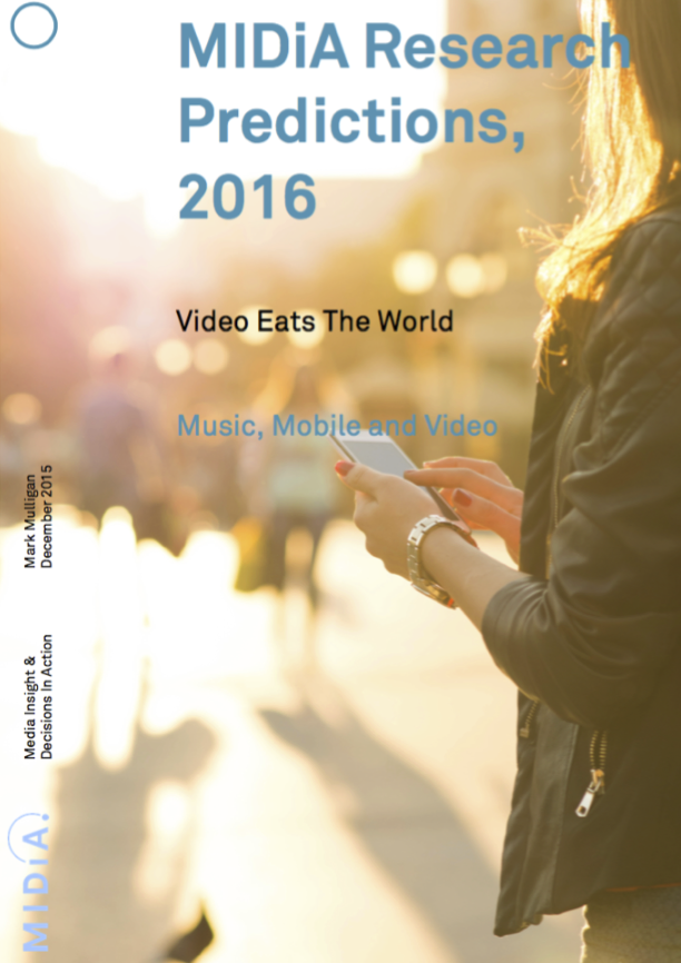 Cover image for MIDiA Predictions 2016: Video Eats The World
