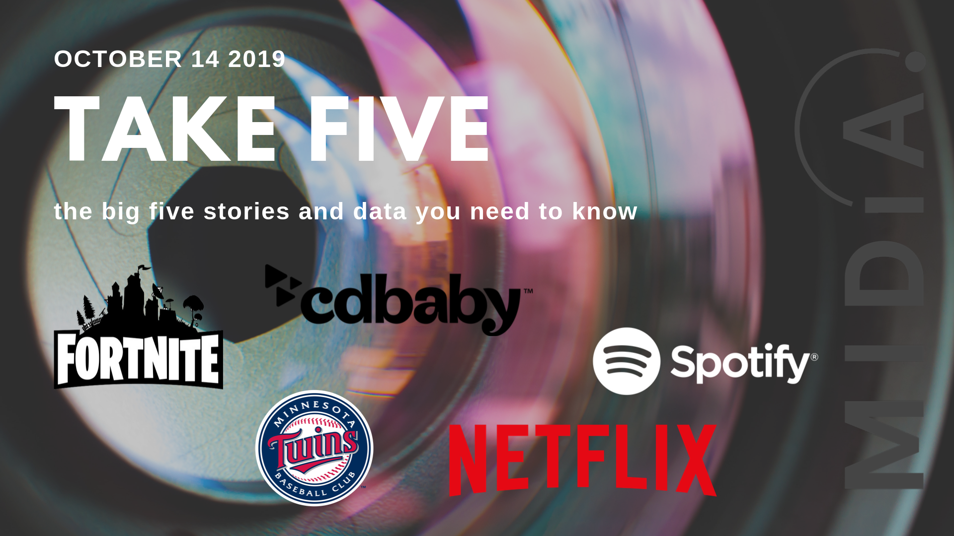 Cover image for Take Five (the big five stories and data you need to know) October 14th 2019