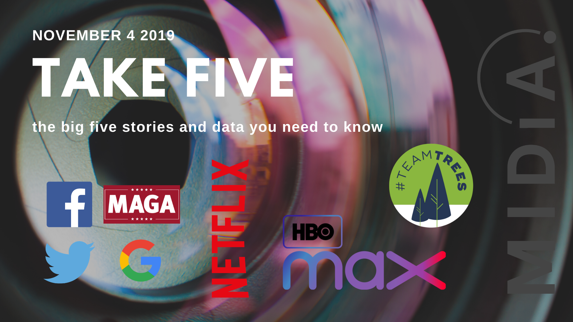 Cover image for Take Five (the big five stories and data you need to know) November 4th 2019