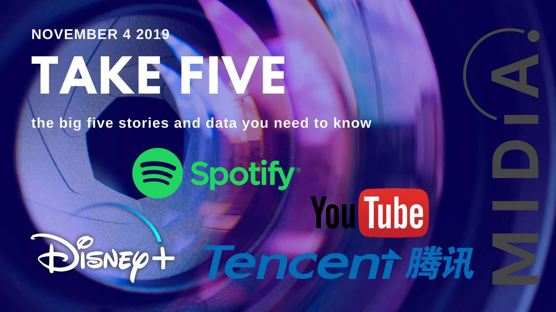 Cover image for Take Five (the big five stories and data you need to know) November 25th 2019